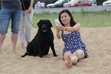 Camille of Yue Liang Wan Kennel(呼名:PUKA,中国排行一海德的女儿)